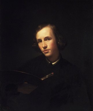 George Henry Hall (American, 1825-1913). <em>Self-Portrait</em>, 1845. Oil on canvas, 29 1/2 x 24 1/2 in. (75 x 62.2 cm). Brooklyn Museum, Gift of Jennie Brownscombe, 15.331 (Photo: Brooklyn Museum, 15.331_transp224.jpg)