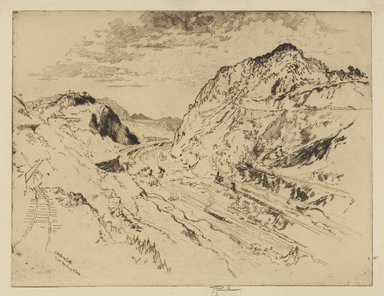 Joseph Pennell (American, 1860-1926). <em>Culebra Cut, Panama</em>, 1912. Etching, Image: 9 7/16 x 12 3/8 in. (23.9 x 31.4 cm). Brooklyn Museum, Gift of the artist, 15.358 (Photo: Brooklyn Museum, 15.358_PS4.jpg)