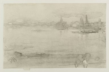 James Abbott McNeill Whistler (American, 1834-1903). <em>Early Morning</em>, 1878. Lithograph (lithotint) on cream, moderately thick, smooth paper, Sheet: 6 3/4 x 10 1/4 in. (17.1 x 26 cm). Brooklyn Museum, Gift of the Rembrandt Club, 15.374 (Photo: Brooklyn Museum, 15.374_PS1.jpg)
