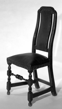 American. <em>Turned Side Chair</em>, 1700-1710., H: 42 5/16 in. (107.5 cm). Brooklyn Museum, Henry L. Batterman Fund, 15.426. Creative Commons-BY (Photo: Brooklyn Museum, 15.426_bw.jpg)