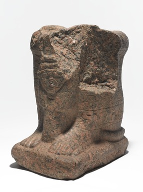 Egyptian. <em>Minmose</em>, ca. 1279-1213 B.C.E. Pink granite, 13 7/8 × 9 1/4 × 13 in., 96 lb. (35.2 × 23.5 × 33 cm, 43.55kg). Brooklyn Museum, Gift of Evangeline Wilbour Blashfield, Theodora Wilbour, and Victor Wilbour honoring the wishes of their mother, Charlotte Beebe Wilbour, as a memorial to their father, Charles Edwin Wilbour, 16.206.1. Creative Commons-BY (Photo: , 16.206a-b_threequarter_right_PS9.jpg)