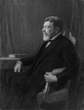 Joseph Henry Boston (American, 1859-1954). <em>Franklin W. Hooper</em>, 1916. Oil on canvas, 51 15/16 x 40 3/16 in. (132 x 102 cm). Brooklyn Museum, Museum Collection Fund, 16.34 (Photo: Brooklyn Museum, 16.34_bw.jpg)