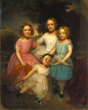 Charles Wesley Jarvis (American, 1812-1868). <em>Adrian Bancker Holmes Children</em>, ca. 1850. Oil on canvas, 60 1/4 x 48 1/16 in. (153 x 122 cm). Brooklyn Museum, Gift of Kathryn C. Blauvelt, 16.37 (Photo: Brooklyn Museum, 16.37_reference_SL1.jpg)