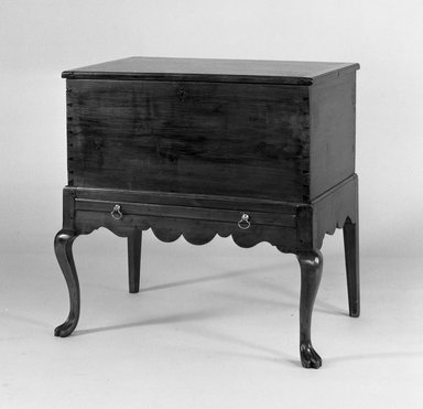 <em>Cellaret</em>, ca. 1750-1775. Wood, 30 x 28 1/4 x 19 1/4 in. (76.2 x 71.8 x 48.9 cm). Brooklyn Museum, Henry L. Batterman Fund, 16.511. Creative Commons-BY (Photo: Brooklyn Museum, 16.511_acetate_bw.jpg)