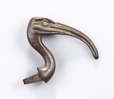 <em>Ibis Head</em>, 664–30 B.C.E. Bronze, 4 x 4 1/2 x 7/8 in. (10.2 x 11.4 x 2.2 cm). Brooklyn Museum, Gift of Evangeline Wilbour Blashfield, Theodora Wilbour, and Victor Wilbour honoring the wishes of their mother, Charlotte Beebe Wilbour, as a memorial to their father, Charles Edwin Wilbour, 16.580.156. Creative Commons-BY (Photo: Brooklyn Museum (Gavin Ashworth,er), 16.580.156_Gavin_Ashworth_photograph.jpg)
