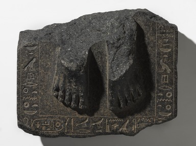 <em>Statue Base of Senetepibre-Ankh</em>, ca. 1938-1759 B.C.E. Granodiorite, 4 1/2 × 9 1/2 × 8 in., 18.5 lb. (11.4 × 24.1 × 20.3 cm, 8.39kg). Brooklyn Museum, Gift of Evangeline Wilbour Blashfield, Theodora Wilbour, and Victor Wilbour honoring the wishes of their mother, Charlotte Beebe Wilbour, as a memorial to their father, Charles Edwin Wilbour, 16.580.87. Creative Commons-BY (Photo: , 16.580.87_PS9.jpg)