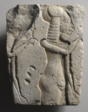 <em>Two Princesses</em>, ca. 1352-1336 B.C.E. Limestone, 9 5/8 x 7 1/16 in. (24.5 x 18 cm). Brooklyn Museum, Gift of Evangeline Wilbour Blashfield, Theodora Wilbour, and Victor Wilbour honoring the wishes of their mother, Charlotte Beebe Wilbour, as a memorial to their father, Charles Edwin Wilbour, 16.60. Creative Commons-BY (Photo: Brooklyn Museum, 16.60_PS4.jpg)