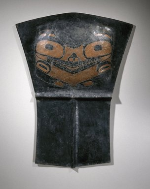 Haida. <em>Copper (Tlakwa)</em>, 19th century. Copper alloy, pigment, 29 3/4 x 22 1/4 x 1 3/4 in. (75.6 x 56.5 x 4.4 cm). Brooklyn Museum, Museum Collection Fund, 16.749.1. Creative Commons-BY (Photo: Brooklyn Museum, 16.749.1_SL1.jpg)