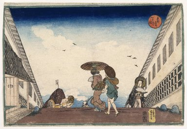 Kuniyoshi Ichiyusai (Japanese, 1797-1861). <em>The Hill Top</em>, ca. 1836. Color woodblock print on paper, 9 13/16 x 14 9/16 in. (25 x 37 cm). Brooklyn Museum, 17.112 (Photo: Brooklyn Museum, 17.112_print_IMLS_SL2.jpg)