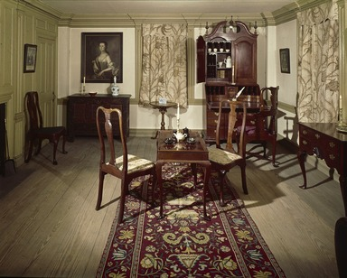 <em>Two Parlors from the Dr. Ezekial Porter House</em>, ca. 1750-1760. Wood Brooklyn Museum, Charles Stewart Smith Memorial Fund, 17.129. Creative Commons-BY (Photo: , 17.129_view3_SL3.jpg)