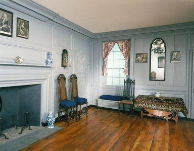 <em>Three Rooms of the Sewall House</em>, 1665 & 1720. Wood Brooklyn Museum, Museum Surplus Fund, 17.130. Creative Commons-BY (Photo: Brooklyn Museum, 17.130_yr1982_installation_hall_view1_IMLS_SL2.jpg)