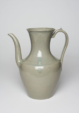 <em>Ewer</em>, late 11th-early 12th century. Porcelaneous stoneware with celadon glaze, Height: 8 7/8 in. (22.5 cm). Brooklyn Museum, Museum Collection Fund, 17.24. Creative Commons-BY (Photo: , 17.24_PS11.jpg)
