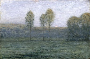 Dwight William Tryon (American, 1849-1925). <em>Twilight</em>, 1893-1894. Oil on panel, frame: 24 7/8 x 32 15/16 x 1 7/8 in. (63.2 x 83.7 x 4.8 cm). Brooklyn Museum, Gift of Mrs. George Langdon Jewett in memory of her husband, 17.39 (Photo: Brooklyn Museum, 17.39_reference_SL1.jpg)