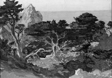 Paul Dougherty (American, 1877-1947). <em>Misty Afternoon, Point Lobos</em>, ca. 1915. Watercolor, Sheet: 14 3/16 x 20 1/8 in. (36 x 51.1 cm). Brooklyn Museum, Museum Collection Fund and Frederick Loeser Fund, 17.48 (Photo: Brooklyn Museum, 17.48_acetate_bw.jpg)