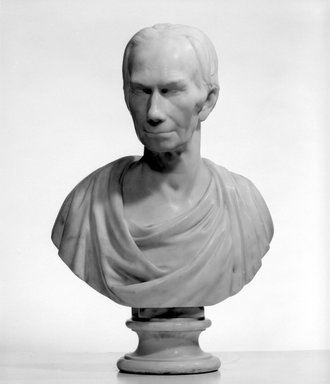 Joel Hart (American, 1810-1877). <em>Bust of Henry Clay</em>, n.d. Marble, 27 1/2 x 18 1/2 in. (69.9 x 47 cm). Brooklyn Museum, Museum Collection Fund, 18.152. Creative Commons-BY (Photo: Brooklyn Museum, 18.152_bw.jpg)