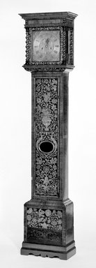 <em>Antique English Clock</em>, 17th century. Walnut, 85 x 17 1/2 x 9 1/2 in. (215.9 x 44.5 x 24.1 cm). Brooklyn Museum, Henry L. Batterman Fund, 18.153. Creative Commons-BY (Photo: Brooklyn Museum, 18.153_bw.jpg)