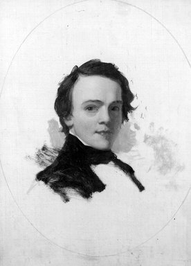 Walter Libbey (American, 1827-1852). <em>Alexander Brown</em>, ca. 1848. Oil on canvas, 11 1/8 x 9 in. (28.2 x 22.8 cm). Brooklyn Museum, Gift of Miss B.C. Matthews, 18.24 (Photo: Brooklyn Museum, 18.24_acetate_bw.jpg)