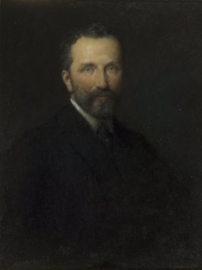 Stephen Douglas Volk (American, 1856-1935). <em>William Macbeth</em>, 1917. Oil on canvas, 29 1/8 x 22 1/16 in. (74 x 56.1 cm). Brooklyn Museum, Gift of a group of American artists and amateurs, 18.38 (Photo: Brooklyn Museum, 18.38.jpg)