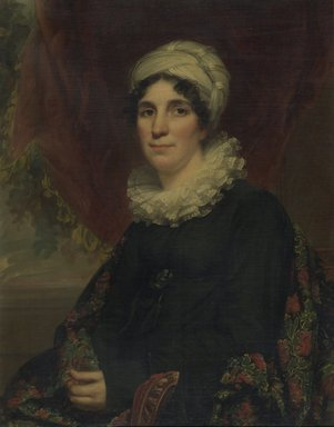 Samuel Lovett Waldo (American, 1783-1861). <em>Mrs. James K. Bogert, Jr.</em>, 1819. Oil on canvas, 32 13/16 x 25 13/16 in. (83.3 x 65.5 cm). Brooklyn Museum, Gift of Kittie A. Doolittle, 18.39 (Photo: Brooklyn Museum, 18.39.jpg)