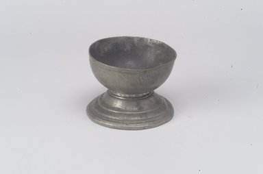 <em>Salt</em>, late 17th or early 18th century. Pewter, 2 x 2 5/8 x 2 5/8 in. (5.1 x 6.7 x 6.7 cm). Brooklyn Museum, Gift of Nestor Sanborn, 19.168. Creative Commons-BY (Photo: Brooklyn Museum, 19.168.jpg)