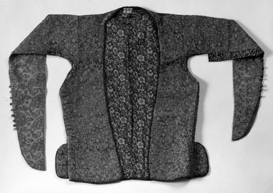 <em>Woman's Short Jacket</em>. Silk Brooklyn Museum, Museum Collection Fund, 19.51. Creative Commons-BY (Photo: Brooklyn Museum, 19.51_front_bw.jpg)