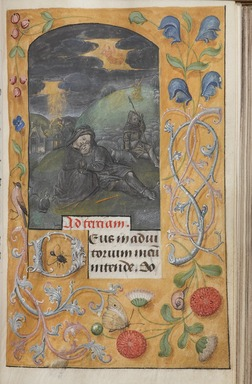 Flemish. <em>Horae Beatae Mariae Virginis</em>, ca. 1510-1530. Manuscript with opaque watercolor and ink with gold, 6 3/8 × 4 7/8 × 1 5/8 in. (16.2 × 12.4 × 4.1 cm). Brooklyn Museum, Bequest of Mary Benson, 19.74 (Photo: , 19.74_p273_PS9.jpg)