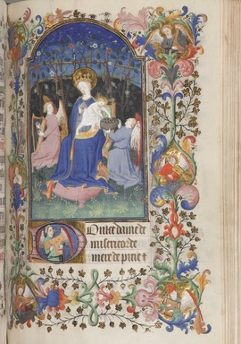 Unknown. <em>Horae Beatae Mariae Virginis</em>, ca. 1425-1460. Manuscript in opaque watercolor and ink with gold, book: 8 × 5 3/4 × 2 3/8 in. (20.3 × 14.6 cm). Brooklyn Museum, Bequest of Mary Benson, 19.78 (Photo: , 19.78_p162_PS9.jpg)