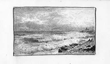 William Trost Richards (American, 1833-1905). <em>Sketchbook</em>. Pencil on paper, 4 15/16 x 8 x 9/16 in. (12.5 x 20.4 x 1.5 cm). Brooklyn Museum, Gift of Edith Ballinger Price, 75.15.9 (Photo: Brooklyn Museum, 1975.15.9_view10_bw.jpg)