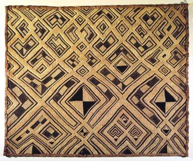 Kuba (Shoowa subgroup). <em>Raffia Cloth Panel Marked K313</em>, 20th century. Raffia, 28 3/4 x 23 5/8 in. (73.0 x 60.0 cm). Brooklyn Museum, Gift of The Roebling Society, 1989.11.2. Creative Commons-BY (Photo: Brooklyn Museum, 1989.11.2.jpg)