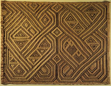 Kuba (Shoowa subgroup). <em>Raffia Cloth Panel Marked D21</em>, 20th century. Raffia, 17 3/4 x 23 5/8 in. (45.1 x 60 cm). Brooklyn Museum, Gift of The Roebling Society, 1989.11.4. Creative Commons-BY (Photo: Brooklyn Museum, 1989.11.4.jpg)