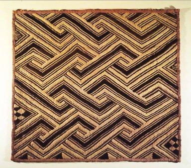 Kuba (Shoowa subgroup). <em>Raffia Cloth Panel Marked D51</em>, 20th century. Raffia, 26 x 29 3/16 in. (66.0 x 74.0 cm). Brooklyn Museum, Gift of The Roebling Society, 1989.11.5. Creative Commons-BY (Photo: Brooklyn Museum, 1989.11.5.jpg)