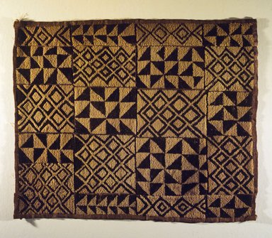 Kuba. <em>Textile Panel</em>, 20th century. Raffia fiber, 20 1/2 x 25 9/16 in. (52.1 x 64.9 cm). Brooklyn Museum, Gift of The Roebling Society, 1989.11.6. Creative Commons-BY (Photo: Brooklyn Museum, 1989.11.6.jpg)