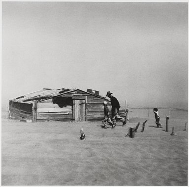 Arthur Rothstein (American, 1915-1985). <em>Dust Storm, Marron County, Oklahoma</em>, 1936; printed later. Gelatin silver photograph, Sheet: 14 x 11 in. (35.6 x 27.9 cm). Brooklyn Museum, Gift of Selma and Leonard Zoref, 1989.128.9 (Photo: Brooklyn Museum, 1989.128.9_PS9.jpg)