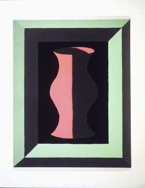 Jedd Garet (American, born 1955). <em>Pink and Grey Vase</em>, 1979. Acrylic on wood, 39 x 31 x 3in. (99.1 x 78.7 x 7.6cm). Brooklyn Museum, Gift of Helen Mandelbaum, 1989.183. © artist or artist's estate (Photo: Brooklyn Museum, 1989.183.jpg)