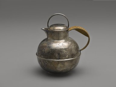 Bernard Rice's Sons, Inc. (1867-1950). <em>Milk Jug</em>, ca. 1910. Silver-plate, 6 1/16 x 5 1/2 x 4 3/8 in. (15.4 x 14 x 11.1 cm). Brooklyn Museum, H. Randolph Lever Fund, 1989.23.2. Creative Commons-BY (Photo: Brooklyn Museum, 1989.23.2_PS6.jpg)