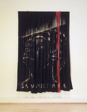 Izhar Patkin (Israeli, born 1955). <em>Self Portrait (Samaritana), 1981</em>, 1981. Neoprene, satin fabric, spray paint , 112 x 73 3/4 in. (284.5 x 187.3 cm). Brooklyn Museum, Anonymous gift in memory of Jack Boulton, 1989.24.2. © artist or artist's estate (Photo: Brooklyn Museum, 1989.24.2.jpg)
