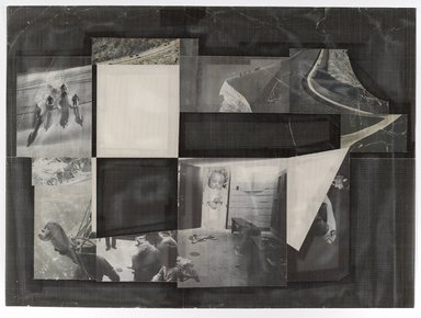 Izhar Patkin (Israeli, born 1955). <em>Untitled</em>, 1980-1981. Perforated chrome coat paper and photographs