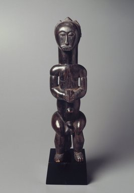 Fang. <em>Reliquary Guardian Figure (Eyema-O-Byeri)</em>, 19th-20th century. Wood, 21 1/2 x 5 1/2 x 7 1/2 in. (? x 14.0 x 19.0 cm). Brooklyn Museum, The Adolph and Esther D. Gottlieb Collection, 1989.51.18. Creative Commons-BY (Photo: Brooklyn Museum, 1989.51.18.jpg)