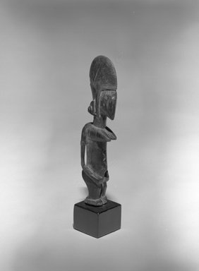 Bamana. <em>Figure of a Female (Nyeleni)</em>, 20th century. Wood, 8 1/4 x 1 1/2 x 2 in. (21 x 3.8 x 5.1 cm). Brooklyn Museum, The Adolph and Esther D. Gottlieb Collection, 1989.51.44. Creative Commons-BY (Photo: Brooklyn Museum, 1989.51.44_bw.jpg)