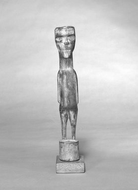 Tiwi. <em>Female Figure</em>, 19th or 20th century. Wood, pigment, 15 1/2 x 3 x 3in. (39.4 x 7.6 x 7.6cm). Brooklyn Museum, The Adolph and Esther D. Gottlieb Collection, 1989.51.52. Creative Commons-BY (Photo: Brooklyn Museum, 1989.51.52_bw.jpg)