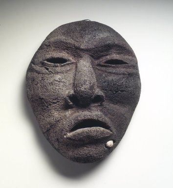 Eskimo. <em>Mask</em>, 19th century. Whalebone, 7 3/8 x 6 x 3 1/4 in. (18.7 x 15.2 x 8.3 cm). Brooklyn Museum, The Adolph and Esther D. Gottlieb Collection, 1989.51.55. Creative Commons-BY (Photo: Brooklyn Museum, 1989.51.55.jpg)