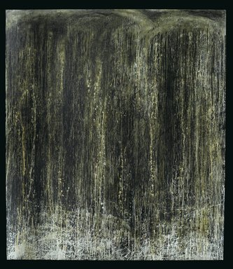Pat Steir (American, born 1940). <em>Everlasting Waterfall</em>, 1989. Oil on canvas, 108 1/2 x 95 x 2 in. (275.6 x 241.3 x 5.1 cm). Brooklyn Museum, Gift of the Contemporary Art Council and purchased with funds given by National Endowment for the Arts Museum Purchase Plan, and gift of Edward A. Bragaline, by exchange, 1990.109. © artist or artist's estate (Photo: Brooklyn Museum, 1990.109_PS2.jpg)