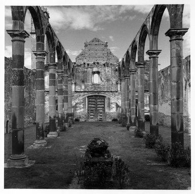 Renata von Hanffstengel (Mexican, born Germany 1934). <em>Tecalic Space Open to the Divine</em>, 1978. Gelatin silver photograph, image: 10 1/2 x 10 1/2 in. (26.7 x 26.7 cm). Brooklyn Museum, Gift of Marcuse Pfeifer, 1990.119.22. © artist or artist's estate (Photo: Brooklyn Museum, 1990.119.22_bw.jpg)