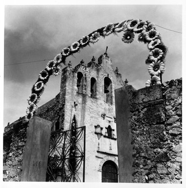 Renata von Hanffstengel (Mexican, born Germany 1934). <em>Crowned Chapel</em>, 1980. Gelatin silver photograph, image: 10 1/2 x 10 1/2 in. (26.7 x 26.7 cm). Brooklyn Museum, Gift of Marcuse Pfeifer, 1990.119.24. © artist or artist's estate (Photo: Brooklyn Museum, 1990.119.24_bw.jpg)