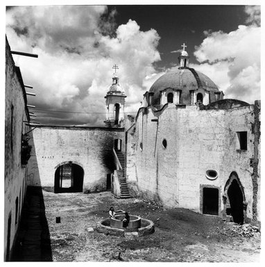 Renata von Hanffstengel (Mexican, born Germany 1934). <em>Hacienda Patio</em>, 1978. Gelatin silver photograph, image: 10 1/2 x 10 1/2 in. (26.7 x 26.7 cm). Brooklyn Museum, Gift of Marcuse Pfeifer, 1990.119.29. © artist or artist's estate (Photo: Brooklyn Museum, 1990.119.29_bw.jpg)