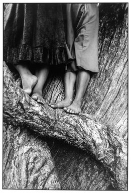 Graciela Iturbide (Mexican, born 1942). <em>La Ascensión (The Ascension), Chalma, State of Mexico</em>, 1984. Gelatin silver photograph, image: 12 x 8 in. (30.5 x 20.3 cm). Brooklyn Museum, Gift of Marcuse Pfeifer, 1990.119.31. © artist or artist's estate (Photo: Brooklyn Museum, 1990.119.31_bw.jpg)