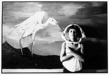 Graciela Iturbide (Mexican, born 1942). <em>Tehuantepec, Oaxaca</em>, 1985. Gelatin silver photograph, image: 5 5/8 x 8 3/4 in. (14.3 x 22.2 cm). Brooklyn Museum, Gift of Marcuse Pfeifer, 1990.119.33. © artist or artist's estate (Photo: Brooklyn Museum, 1990.119.33_bw.jpg)