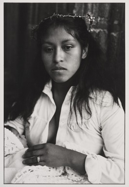 Graciela Iturbide (Mexican, born 1942). <em>Madonna</em>, 1981. Gelatin silver photograph, sheet: 13 15/16 × 10 7/8 in. (35.4 × 27.6 cm). Brooklyn Museum, Gift of Marcuse Pfeifer, 1990.119.40. © artist or artist's estate (Photo: , 1990.119.40_PS9.jpg)