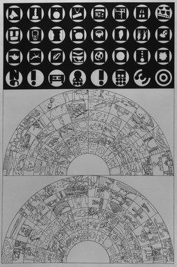 Matt Mullican (American, born 1951). <em>History & Signs</em>, 1988. Etching with 16 gauge copper plates, sheet: 22 x 15 1/8 in. (55.9 x 38.4 cm). Brooklyn Museum, Frank L. Babbott Fund, 1990.125.3. © artist or artist's estate (Photo: Brooklyn Museum, 1990.125.3_bw.jpg)
