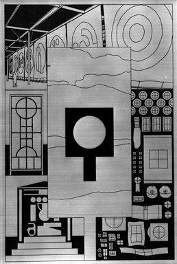 Matt Mullican (American, born 1951). <em>Elements of Identification</em>, 1988. Etching with 16 gauge copper plates, sheet: 22 x 15 1/8 in. (55.9 x 38.4 cm). Brooklyn Museum, Frank L. Babbott Fund, 1990.125.7. © artist or artist's estate (Photo: Brooklyn Museum, 1990.125.7_bw.jpg)